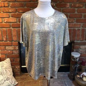 Dressy XXL Disco Metallic Shirt Top